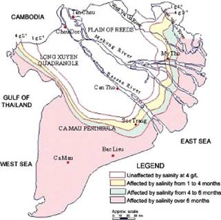 Salinity in the Mekong Delta